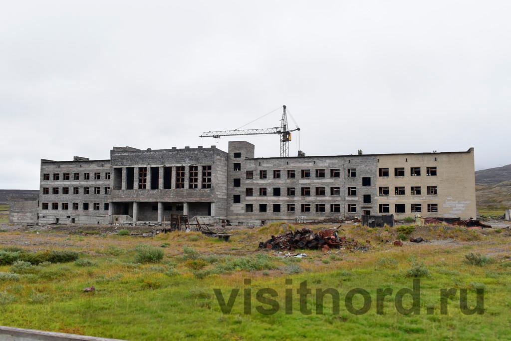 Стройка школы в Иультине