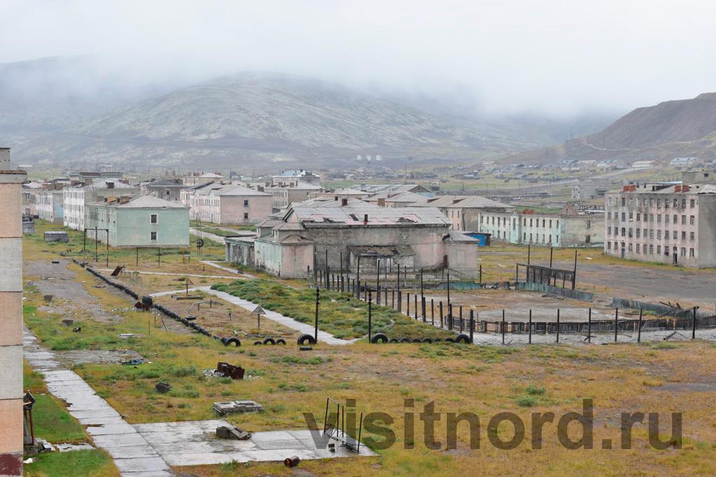 Вид с крыши на поселок