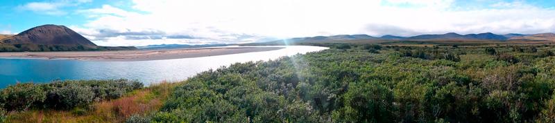 Переход через реку Амгуэма