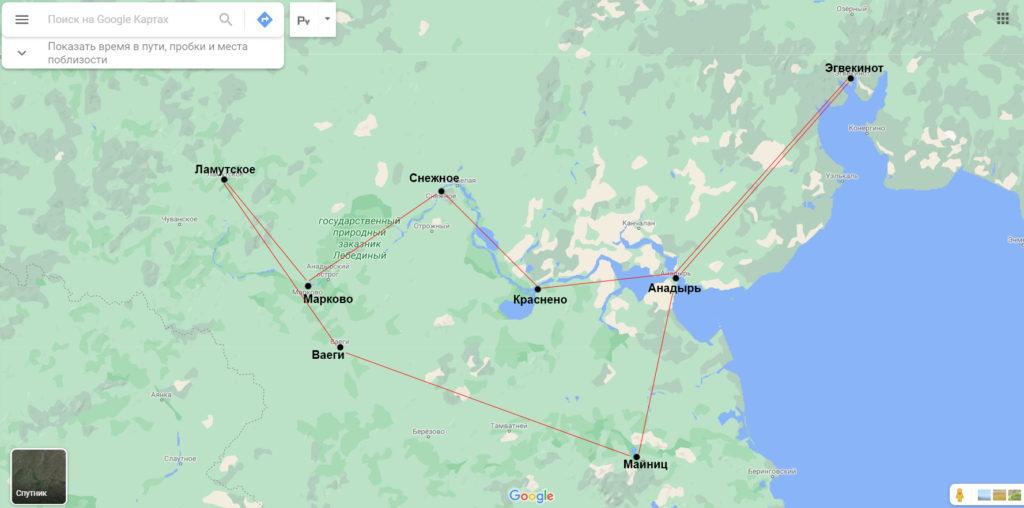 Карта маршрута 2021