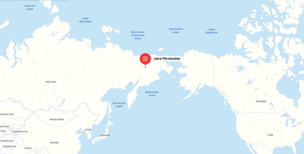 Карта река Мечкерева