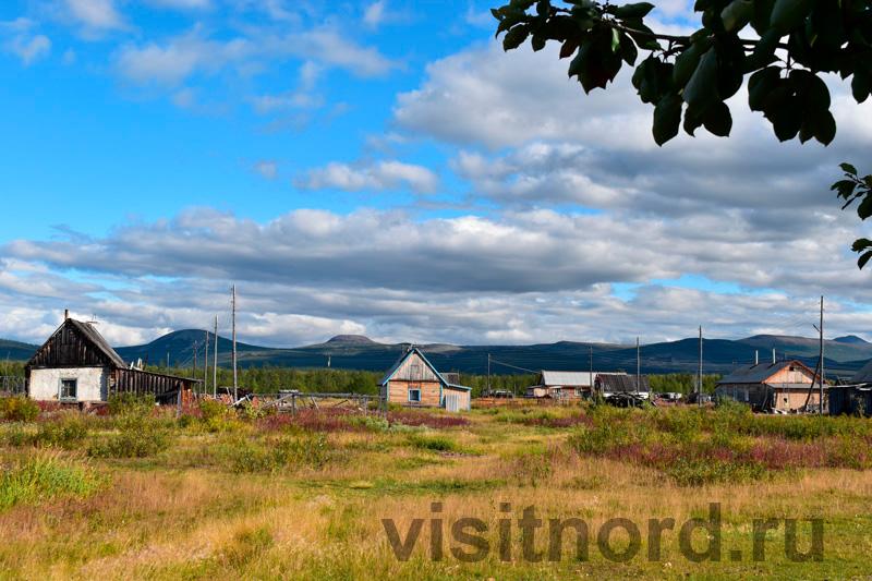 Вид на село Ламутское