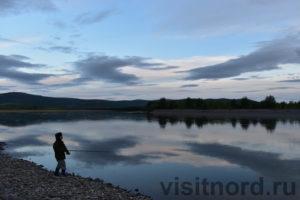 Рыбалка на закате Чукотка