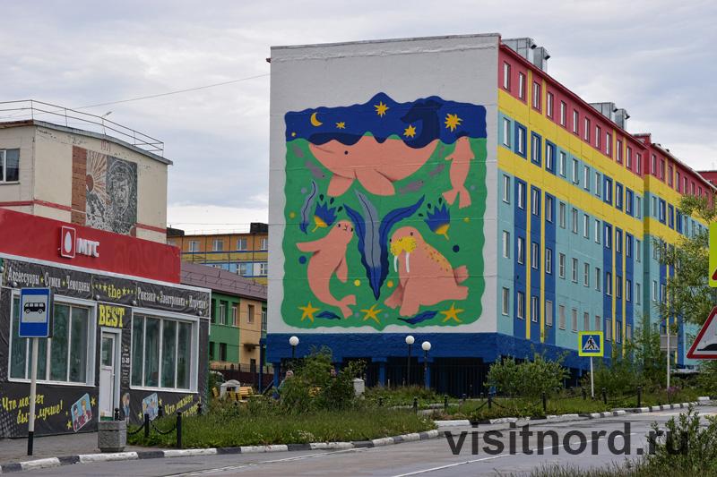 Фасады зданий в Анадыре
