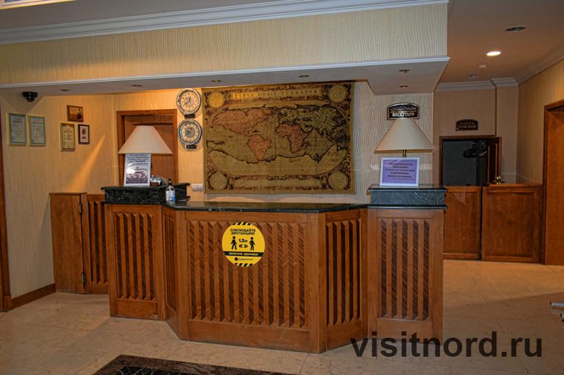 Ресепшн в гостинице Чукотка