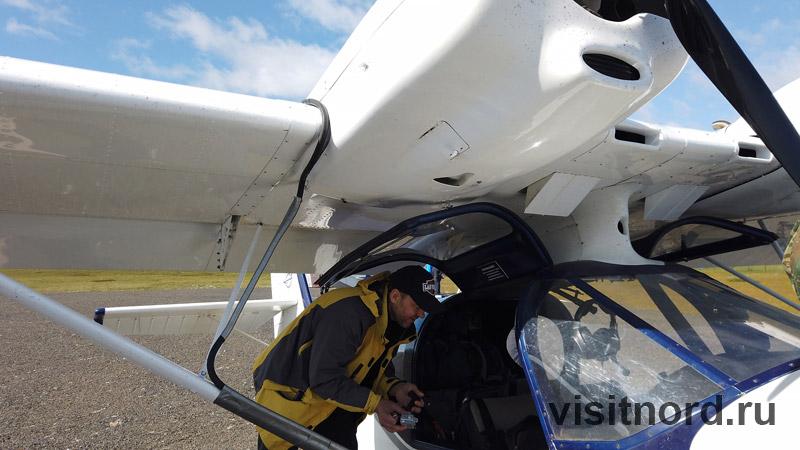 Гидросамолеты на аэродроме
