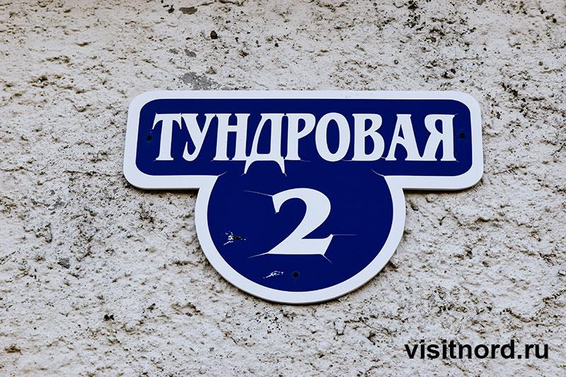 Табличка улица Тундровая